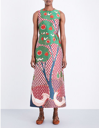 Red Valentino Jacquard floral-print dress $1,040 thestylecure.com