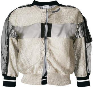 Aviu knitted panel bomber jacket