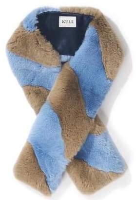 Kule Lloyd Scarf In Camel Light Blue
