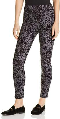 Lysse Toothpick Leopard-Print Denim Leggings