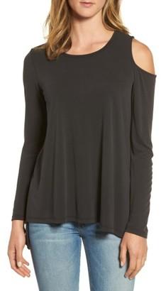 Women's Bobeau Single Cold Shoulder Top $59 thestylecure.com