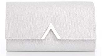Quiz Silver Glitter Metal Trim Bag