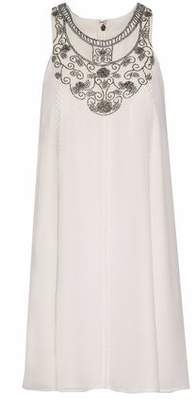 Haute Hippie The Record Bead-Embellished Silk-Georgette Mini Dress