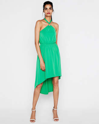Express O-Ring Halter Midi Dress