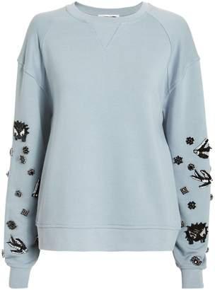 McQ Embellished Sleeve Sweatshirt
