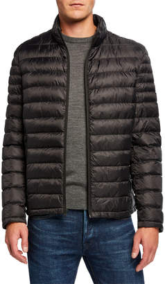 MICHAEL Michael Kors Men's Nylon Down Hipster Quilted Jacket