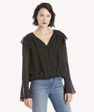 Sole Society Cori Ruffle Wrap Blouse