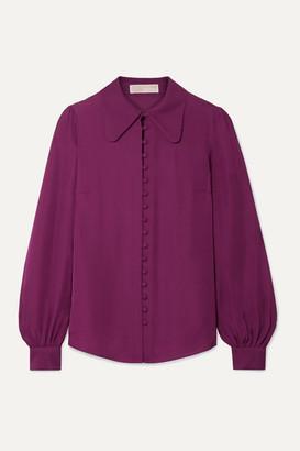 MICHAEL Michael Kors Silk-crepe Shirt - Plum