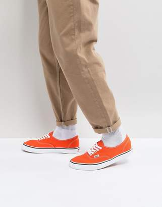 Vans Authentic Sneakers In Orange VA38EM2W1