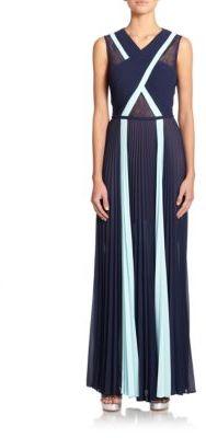 BCBGMAXAZRIAPleated Crisscross Gown