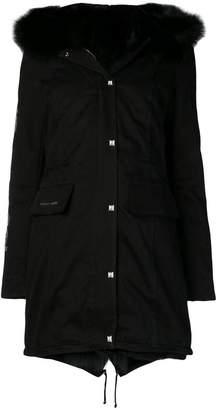 Philipp Plein fur-trim parka coat