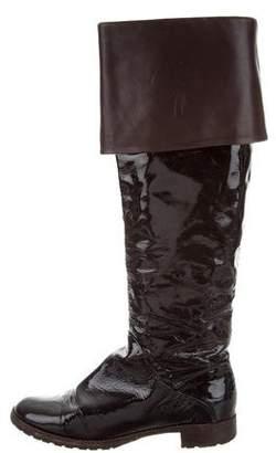 Giuseppe Zanotti Logo Patent Leather Boots