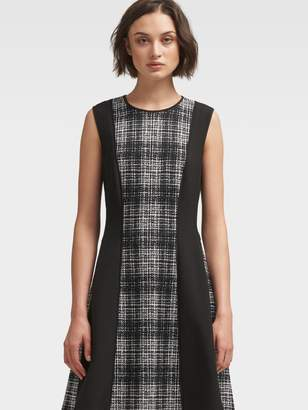 DKNY Sleeveless Plaid A-Line Dress