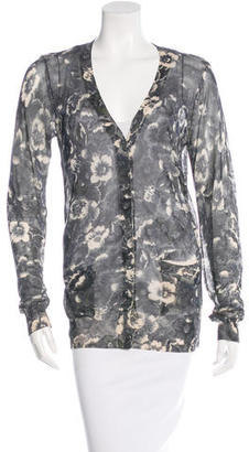Vera Wang Lavender Label Floral Sheer Button Cardigan $85 thestylecure.com