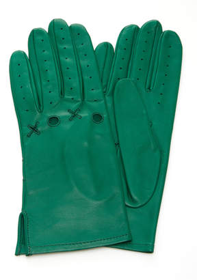 XOXO Yestadt Millinery Cutout Leather Driving Gloves