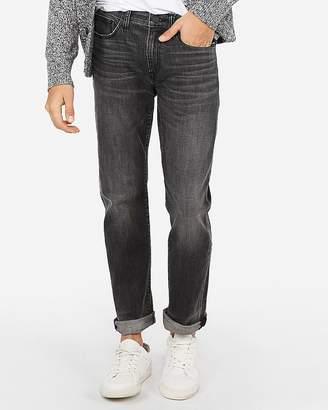 e66462945af Express Slim Black Faded Stretch+ Jeans