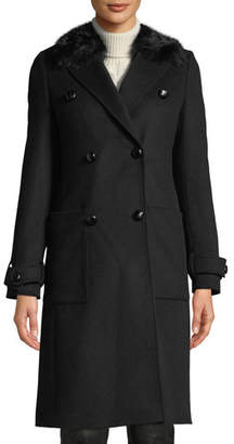 Belstaff Delmere 2.0 Pea Coat w/ Removable Fur