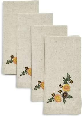 Sur La Table Embroidered Floral Napkins, Set of 4
