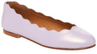 French Sole Teardrop Ballet Flat