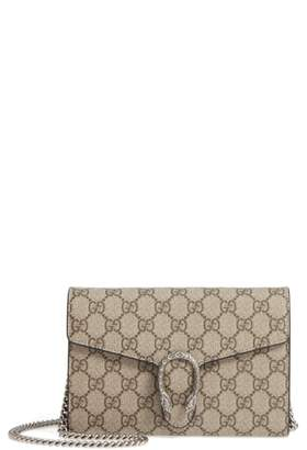 Gucci Dionysus GG Supreme Canvas Wallet on a Chain