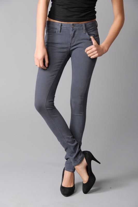 Kill City The Junkie Stretch Twill Skinny Jeans in Grey