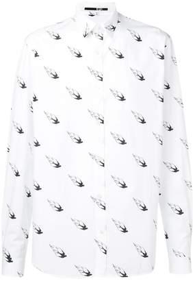 McQ swallow print shirt