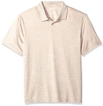 Haggar Men's Short Sleeve Polyester Knit Polo