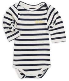 Maison Labiche Baby's Long Sleeve Striped Cotton Bodysuit