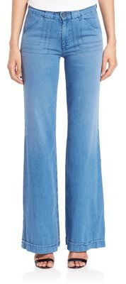 AG Carly Pintuck Wide Leg Jeans $235 thestylecure.com
