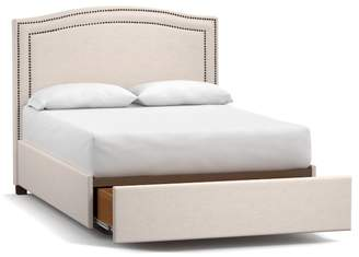 Pottery Barn Tamsen Upholstered Curve Footboard Storage Bed
