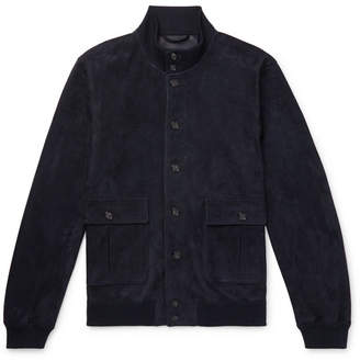 Valstarino Slim-Fit Unlined Suede Bomber Jacket