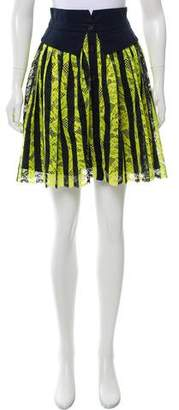 ICB Striped Lace Skirt