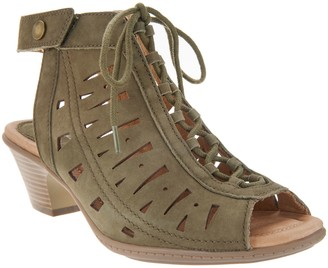 Earth Nubuck Leather Lace-Up Sandals - Kristen