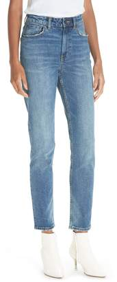Rebecca Taylor High Waist Straight Leg Jeans