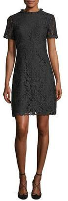 Kate Spade Short-Sleeve Tapestry Lace A-Line Dress