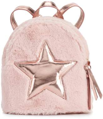 T-Shirt & Jeans T Shirt & Jeans Faux-Fur Star Dome Backpack