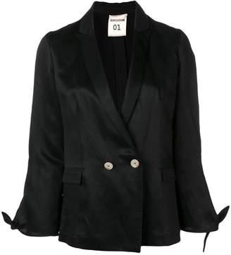 Semi-Couture Semicouture knot cuff blazer