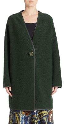 Lafayette 148 New York Wool-Blend One-Buttoned Coat