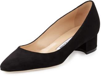 0d55b7ed42f ... where to buy at bergdorf goodman manolo blahnik listony suede low heel  pump cd0a3 11bf9