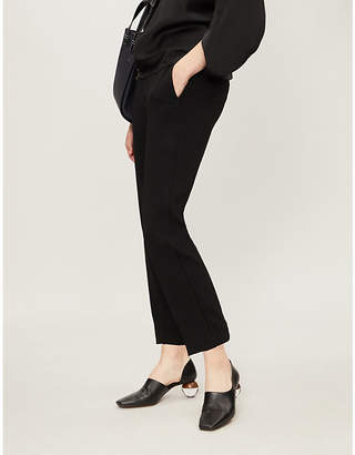 Vince Waist-tie high-rise crepe trousers