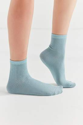 Urban Outfitters Solid Ribbed Crew Sock