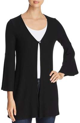 Three Dots Brushed Bell-Sleeve Cardigan