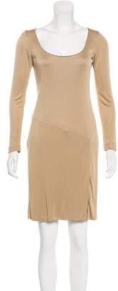 Ralph Lauren Black Label Tonal Knee-Length Dress