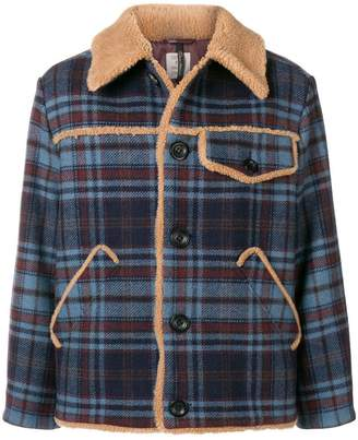 Santoni shearling lined jacket