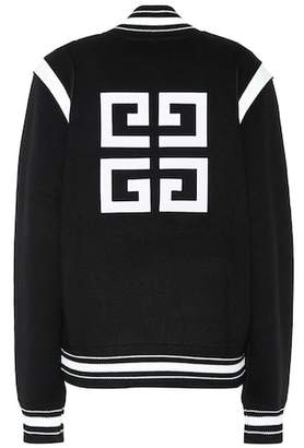 Givenchy Knitted wool varsity jacket