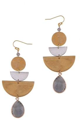 Nakamol Design Cecilia Labradorite Tiered Drop Earrings