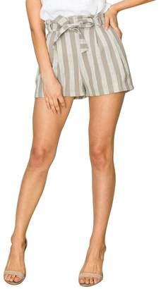 Olivia Pratt Striped Paperbag Shorts