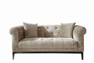 BEIGE Purple Rain Sparrow Velvet 2 Seater Sofa