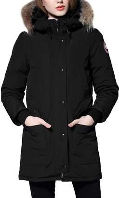 Partiss Mens Womens Winter Fashion Hooded Down Coat 90% Duck Down Fur Collar Parka Jacket(Chinese 2XL,)