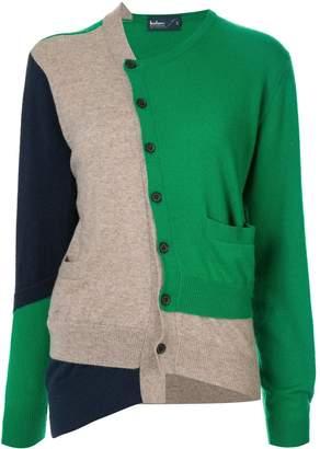 Kolor patch panelled cardigan
